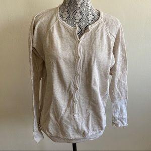 Aritzia Wilfred Cream Button Up Sweater
